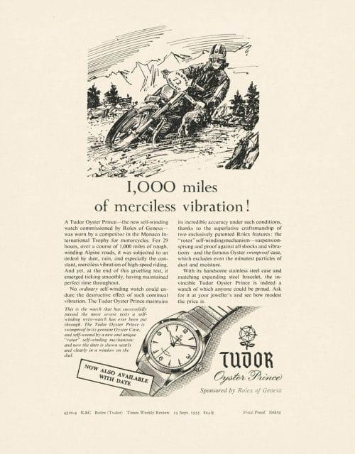 Tudor: Werbung Oyster Prince Motorradrallye Monaco