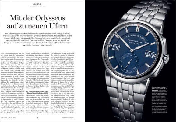 UHREN-MAGAZIN Heft 1/2020: A. Lange & Söhne Odysseus