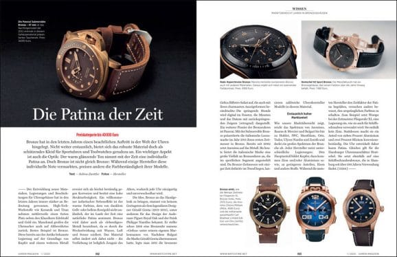 UHREN-MAGAZIN Heft 1/2020: Marktübersicht Bronzeuhren