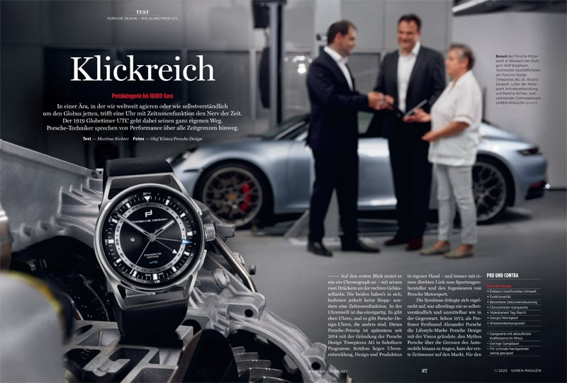 Produkt: Download: Porsche Design 1919 Globetimer UTC im Test