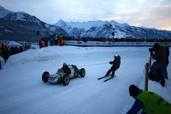 Skijöring beim GP Ice Race in Zell am See
