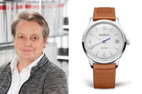 Martina Richter, stellvertretende Chefredakteurin UHREN-MAGAZIN, empfiehtl die Jaeger-LeCoultre Master Control Date