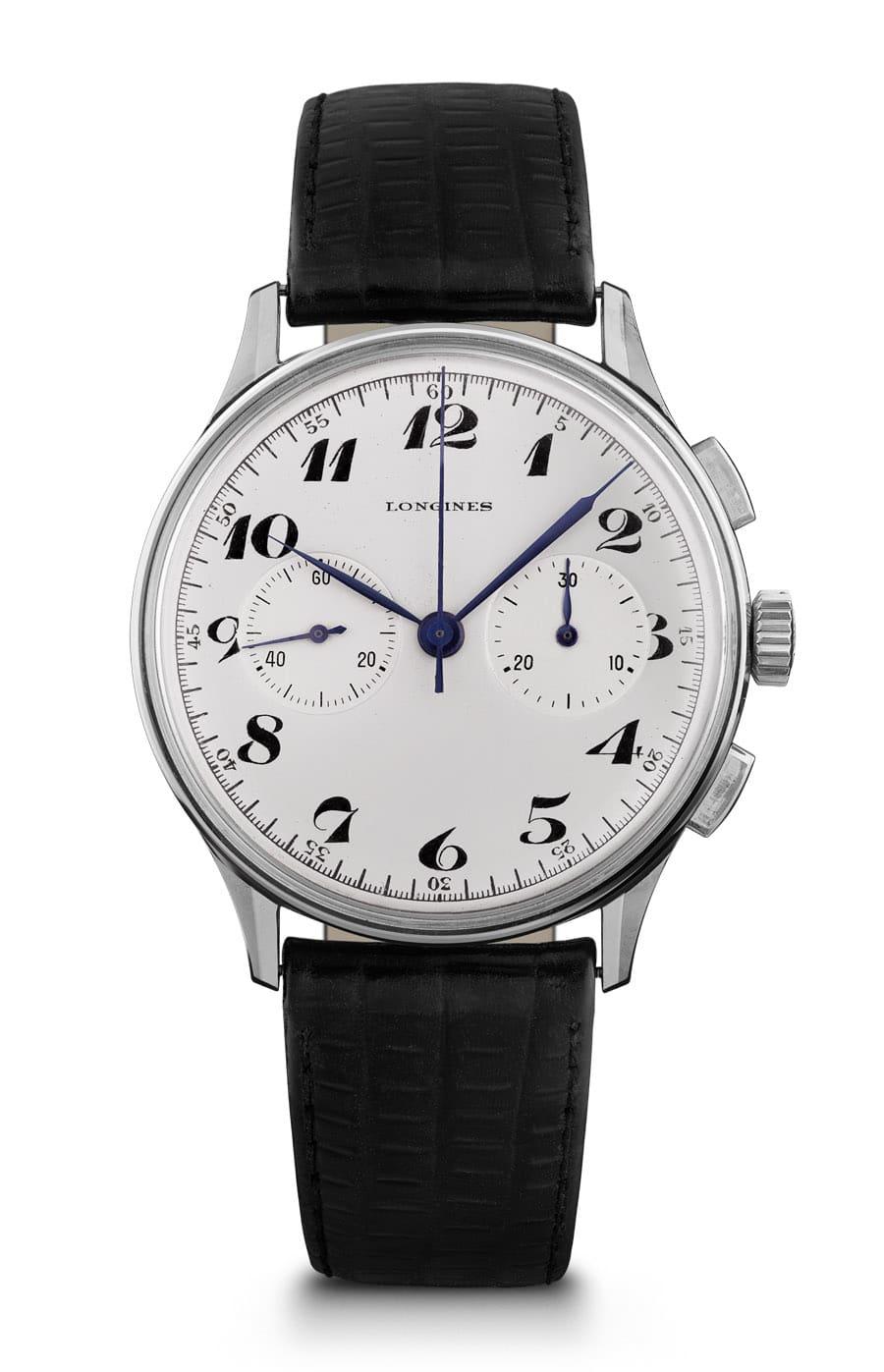 Vorbild für die The Longines Heritage Classic Chronograph 1946: eine klassischer Bicompax-Chronograph von 1946