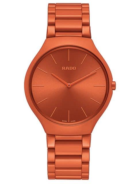 Rado: True Thinline Les Couleurs Le Corbusier, Gehäuse und Band aus Hightech-Keramik