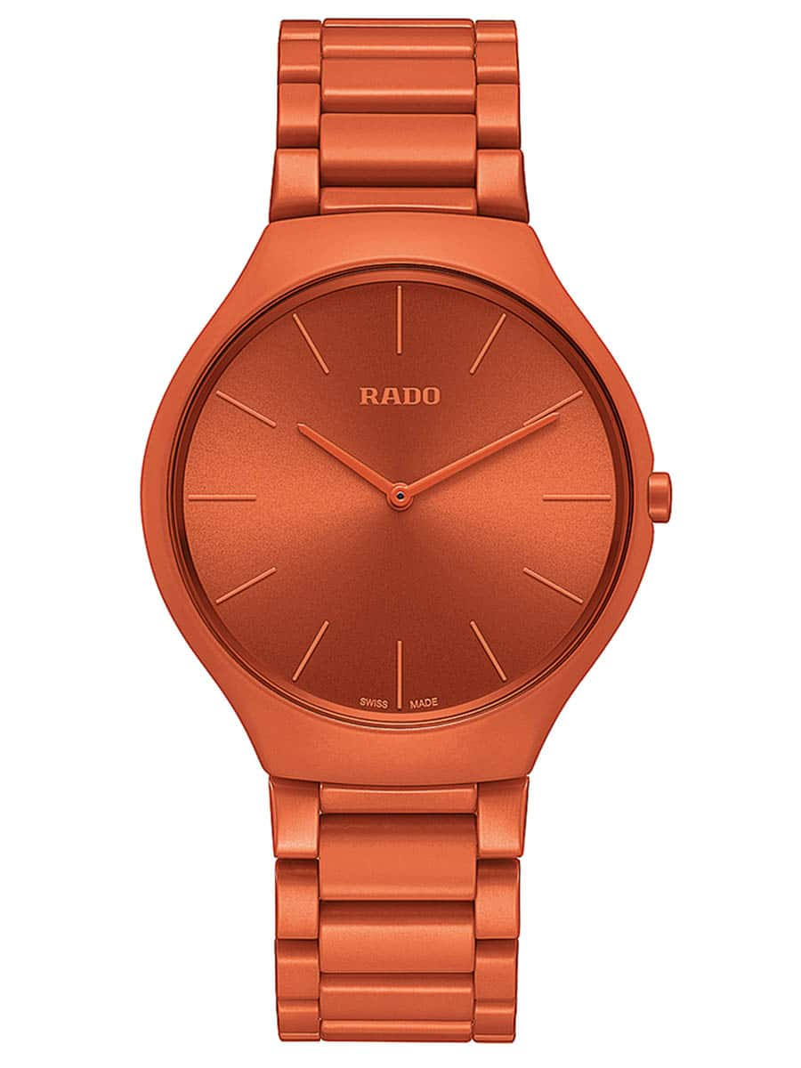 Rado: True Thinline Les Couleurs Le Corbusier, Gehäuse und Band aus Hightech-Keramik