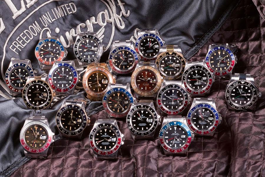 Die Rolex GMT-Master gab es in vielen Varianten