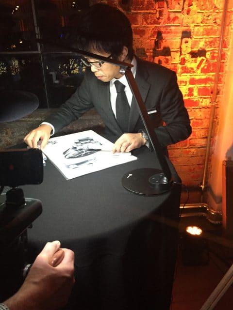 Uhrendesigner in Aktion: Shinichiro Kubo zeichnete während des Events eine Uhr und sprach in einem Vortrag über seine Arbeit für Grand Seiko