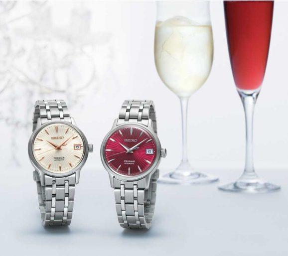 Seiko Presage Cocktail Serie: Spritzer SRP855J1 und Kir Royal SRP853J1