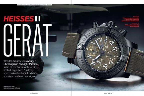 Test des neuen Breitling Avenger Chronograph 45 Night Mission