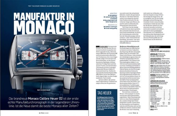 Test der neuen Monaco Heuer 02 mit Manufakturkaliber