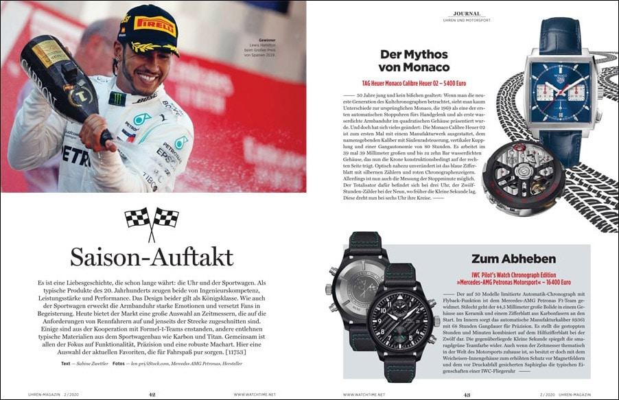 UHREN-MAGAZIN 2/2020: Uhren und Motorsport