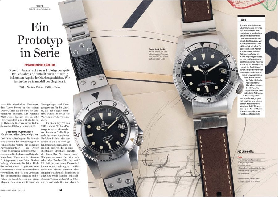 UHREN-MAGAZIN 2/2020: Test Tudor Black Bay P01