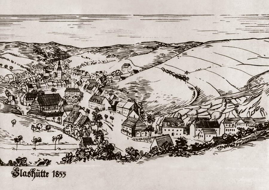 Glashütte um 1850
