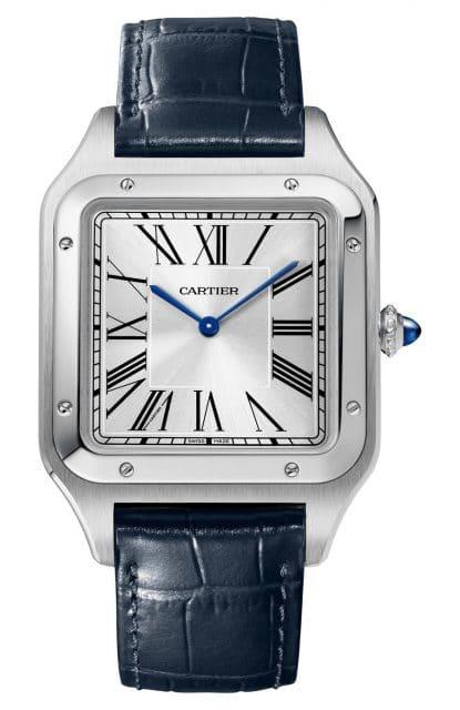 Cartier: Santos-Dumont XL in Edelstahl