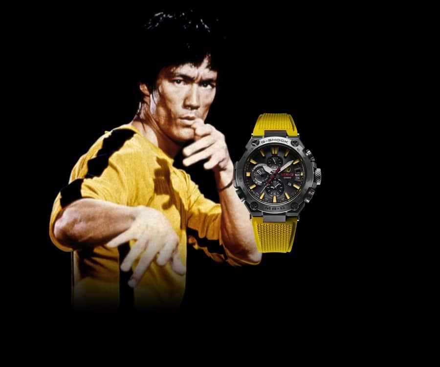 Die neue Casio G-Shock M-RG in den typischen Bruce-Lee-Farben Schwarz und Gelb