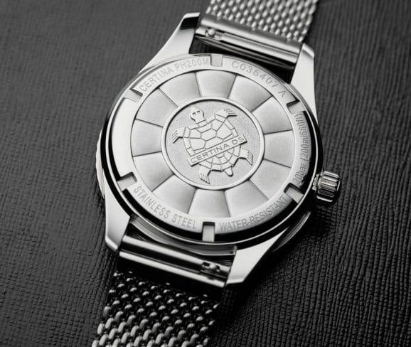 Die Schildkröte ist das Markensymbol von Certina