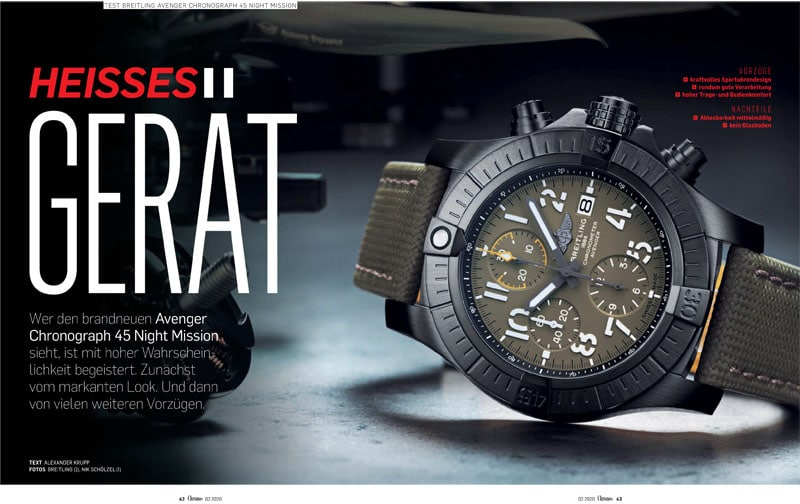 Produkt: Download: Test der Breitling Avenger Chronograph 45 Night Mission