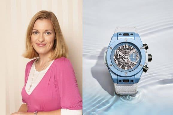 Tipp für eine bunte Uhr von Katharina Studer, Online-Redakteurin Watchtime.net: Hublot Big Bang Unico Sky Blue