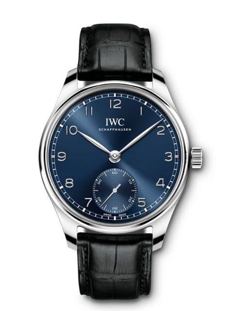 IWC: Portugieser Automatic 40 in Edelstahl mit blauem Zifferblatt