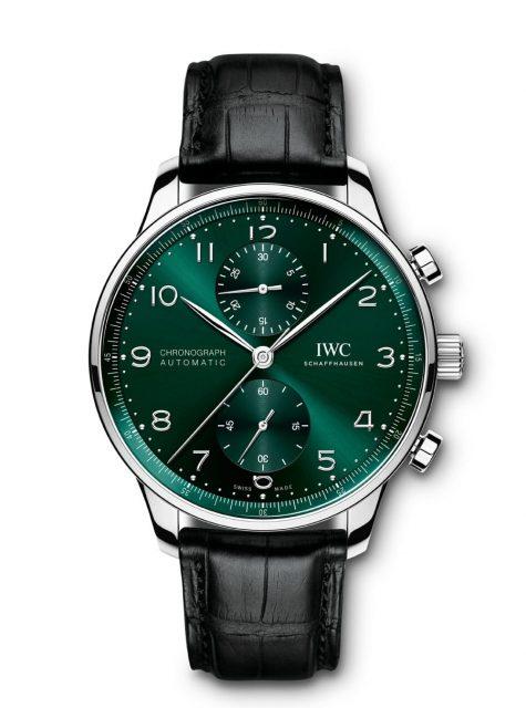 IWC: Portugieser Chronograph Ref. 371615 in Grün