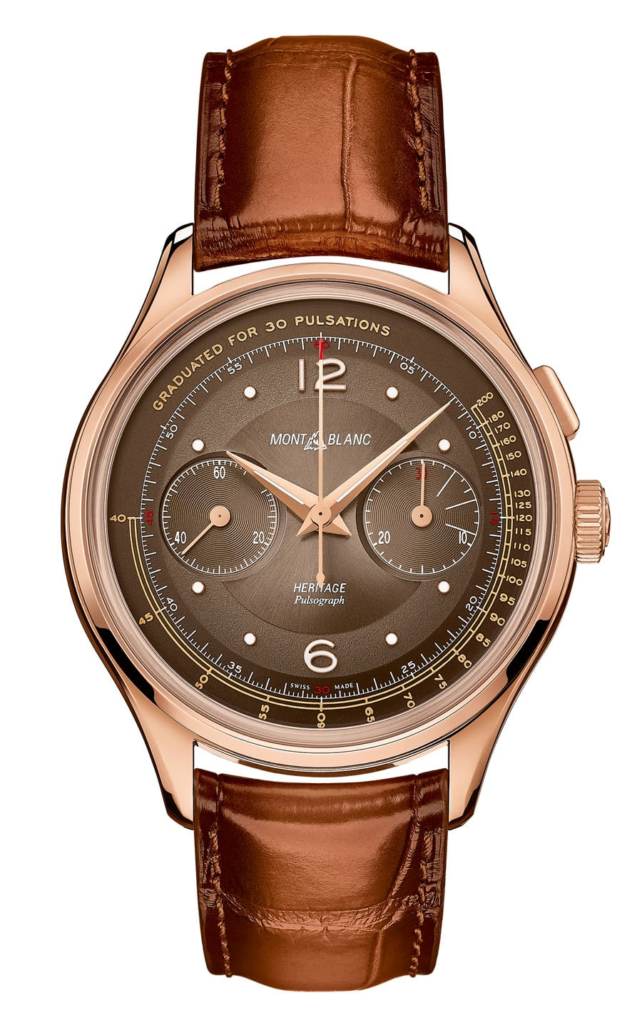 Montblanc: Heritage Manufacture Pulsograph Limited Edition 100 in Roségold