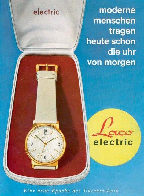 Frühe elektromechanische Uhr: Laco Electric von 1961