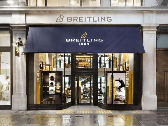 Die 2020 eröffnete Breitling-Boutique in der Londoner Regent Street