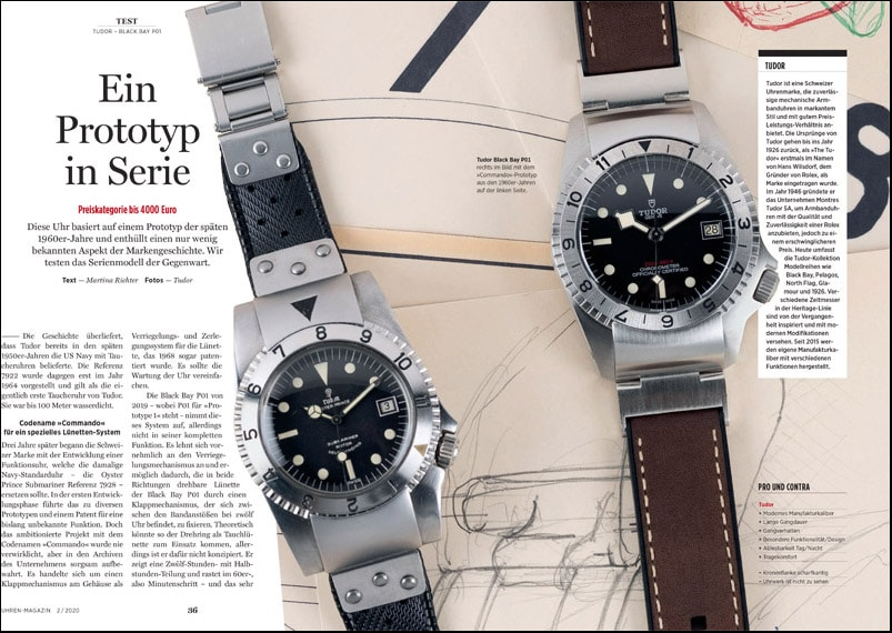 Produkt: Download: Test der Tudor Black Bay P01
