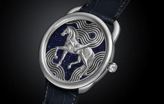 Hermès: Arceau Cheval Cosmique mit Aventurinzifferblatt