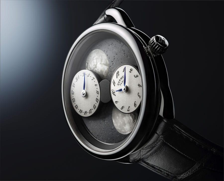 "Hermès: Neue Version der Arceau L'heure de la lune mit ""Black Sahara""-Meteoritenzifferblatt"
