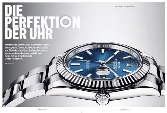 Alles über Rolex' Jagd nach der perfekten Uhr in der großen Rolex Datejust Story in Chronos 03.2020