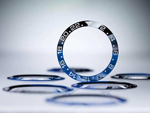 Rolex: zweifarbige Lünetten scheibe aus Hightech-Keramik für eine GMT-Master II