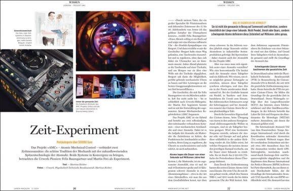 UHREN-MAGAZIN Heft 3/2020: Wissen über Atomuhren