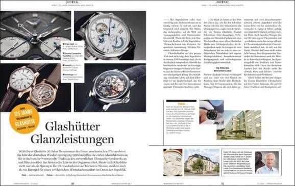UHREN-MAGAZIN Heft 3/2020: 175 Jahre Uhrmacherei in Glashütte