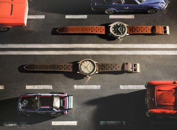 Frederique Constant: Vintage Rally Healey Automatic in Edelstahl und mit rosévergoldetem Gehäuse