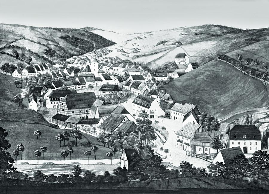 Glashütte um 1855