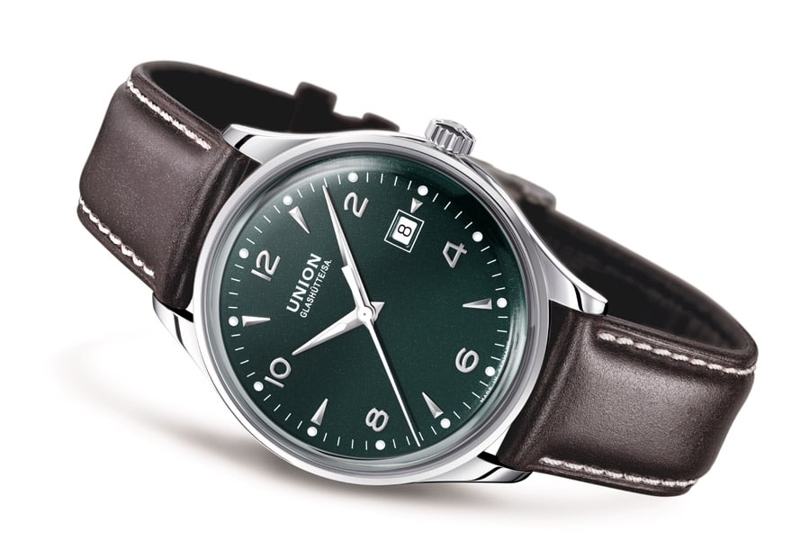 Union Glashütte: Noramis Datum in British Racing Green