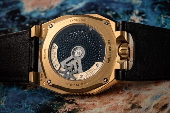 Gehäuserückseite der Urwerk UR-100 Gold