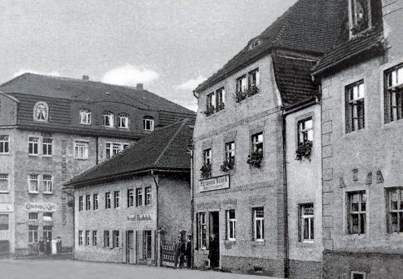 1845: Die erste Werkstatt von Ferdinand Adolph Lange in Glashütte befand sich im dritten haus von links