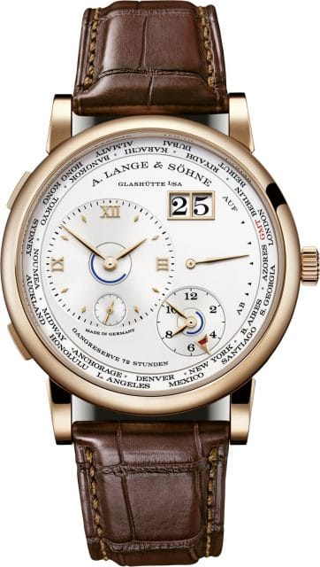 A. Lange & Söhne: Lange 1 Zeitzone in Rotgold