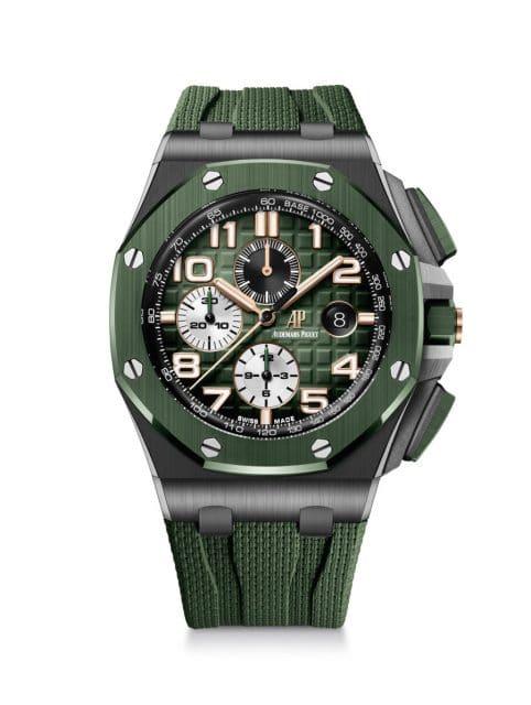 Audemars Piguet: Royal Oak Offshore Chronograph in schwarzer Keramik mit grünem Zifferblatt