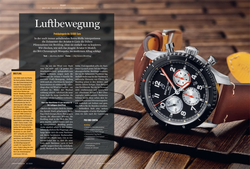 Produkt: Breitling Aviator 8 B01 Chronograph Mosquito im Test