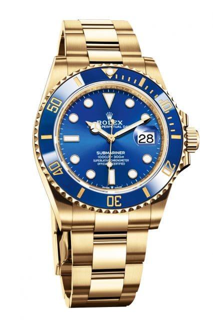 Rolex: Oyster Perpetual Submariner Date, Gelbgold, blaues Zifferblatt, Referenz 126618LB