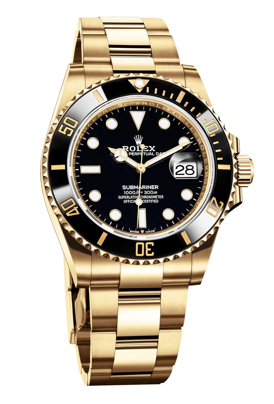 Rolex: Oyster Perpetual Submariner Date, Gelbgold, schwarzes Zifferblatt, Referenz 126618LN