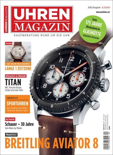 Das UHREN-MAGAZIN Heft 4/2020, ist ab dem 10. Juli 2020 erhältlich