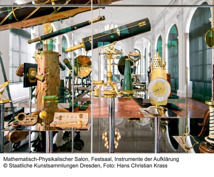 Mathematisch-Physikalischer Salon, Festsaal, Intrumente der Aufklärung