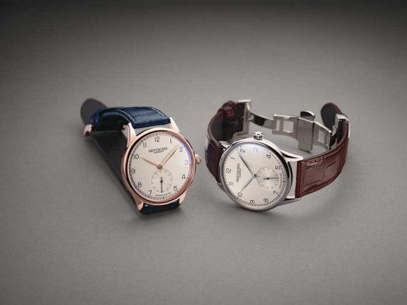 Hentschel: H1 Chronometer in blauem und braunem Band