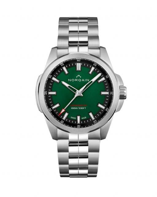 Norquain Indeendence 20  Scratched Forest Green Dial