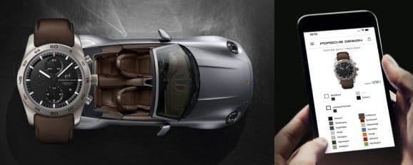 Der Konfigurator für die Porsche Design Custom-Built Timepieces funktioniert auch mobil
