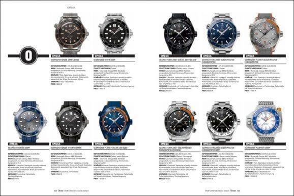 Umfassender Katalogteil: Hier finden Sie aktuelle Uhren und die Neuheiten des Jahres in alphabetischer Reihenfolge